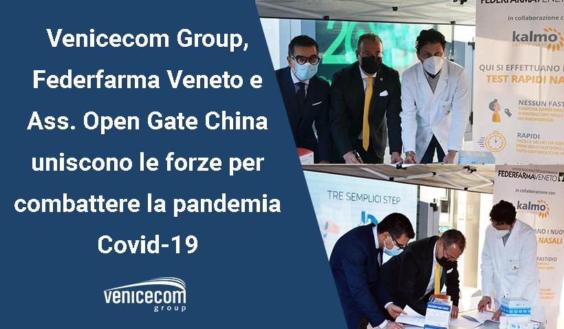 Covid: Venicecom, Federfarma Veneto e Ass. Open Gate China uniscono le forze per combattere la pandemia.