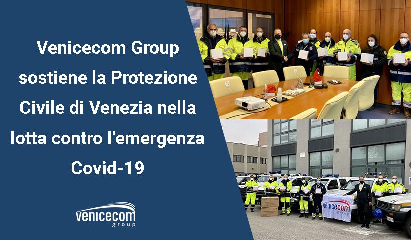 Venicecom dona alla protezione civile soluzioni contro il Covid19